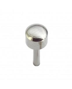 Caflon® sterilūs sidabriniai apvalūs auskarai