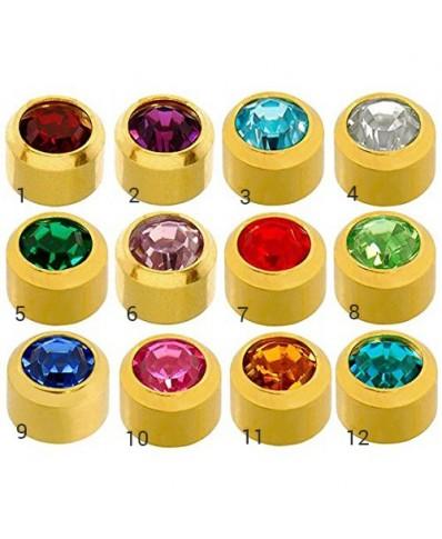 Caflon® MINI sterilūs apvalūs spalvoti auskarai (auksiniame apvade)