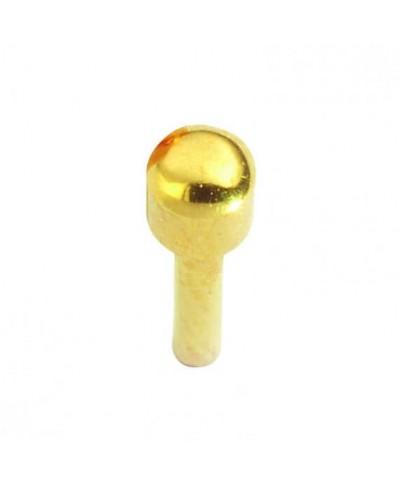 Caflon® MINI sterilūs paauksuoti apvalūs auskarai