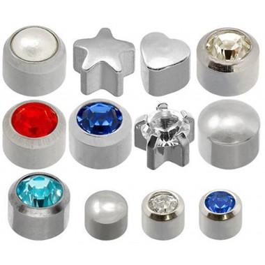 Caflon® sterilių sidabrinių auskarų komplektas (12 porų)