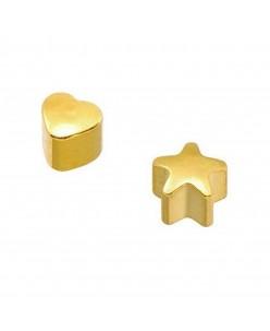 Caflon® sterilūs paauskuoti MINI įvairių formų auskarai