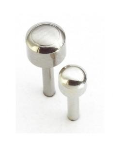 Caflon® MINI sterilūs sidabriniai apvalūs auskarai