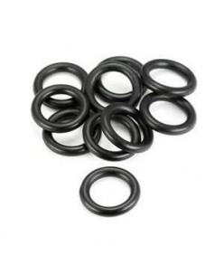 Juodas O guminis žiedukas (100 vnt.)